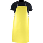"PGI 1016172 Nitrile Apron Heavy Weight USDA 35"" x 45"" Yellow"