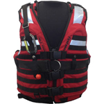 FirstWatch HBV-100-RB High Buoyancy Vests White Water Red Black