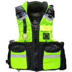 FirstWatch AV-800-PROY Pro Four Pocket Vests USCG Type III Yellow/Bl