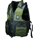FirstWatch AV-800-PROG Pro Four Pocket Vests USCG Type III Green/Bla