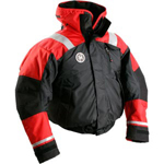 FirstWatch AB-1100-BR Flotation Bomber Jackets Black and Red