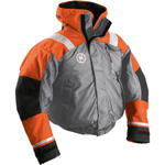 FirstWatch AB-1100-G Flotation Bomber Jackets Orange and Grey