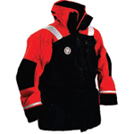FirstWatch AC-1100-XXXL Flotation Coats Black and Red Non-approved