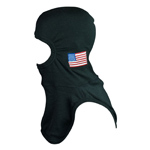 Majestic American Flag on PBI Gold Black NFPA Hood PAC II