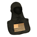 Majestic American Flag Glow in Dark Orange on Black hood NFPA Hood P