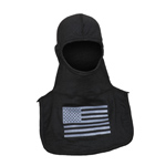 Majestic Grey American Flag on Black hood NFPA Hood PAC II