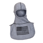 Majestic Black American Flag on Grey hood NFPA Hood PAC II