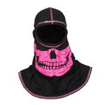 Majestic Black hood with High-Vis Pink Skull NFPA Hood PAC F-20
