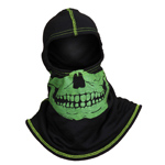 Majestic Black hood with High-Vis Yellow Skull NFPA Hood PAC F-20