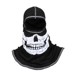 Majestic Black hood with White Skull NFPA Hood PAC F-20