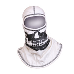 Majestic White hood with Black Skull NFPA Hood PAC F-20