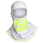Majestic White hood with High-Vis Yellow Skull NFPA Hood PAC F-20