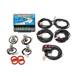 Wolo 8504-15CCRR Kit NEXGEN 2 Clear-2 Red LED Heads 12-24 Volt
