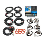 Wolo 8506-31-4B2R Kit NEXGEN PLUS 4 Blue-2 Red LED Heads 12-24 Volt