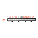 "FireTech FT-MB-15-S-B Light Mini Brow Light 20"" 15 LED 10 Degree Spo"