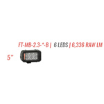 "FireTech FT-MB-2.3-FT-B Light Mini Brow DS Light 4.7"" 3 LED Spot and"