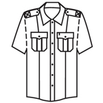 Topps Apparel SH99-0760 Short Sleeve Public Safety Shirt - White