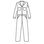 Topps Apparel CO07-5545 Unlined Coverall - Red