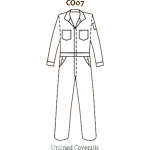 Topps CO07-5530 Unlined FR Coveralls 4.5 oz Nomex Grey