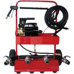 Fire Hose Testers Electric 4 Outlet with Pressure Washer