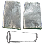 "9"" Aluminized Safety Sleeves 590 CPA Newtex"