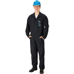 Topps CO07-5605 Unlined FR Coveralls 6.0 oz Nomex Navy Blue