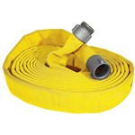 "ATI 59H25JTY25N Jaflite Fire Hose, 2-1/2"" Dia, 25 ft, Yellow, NST 1 PK"