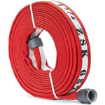 "ATI 53H175HDR100N Armtex HP Fire Hose, 1-3/4"" Dia, 100 ft, Red with white stripe, NST"