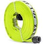 "ATI 53H25HDY100N Armtex HP Fire Hose, 2-1/2"" Dia, 100 ft, Hi-vis yellow with white stripe, NST"