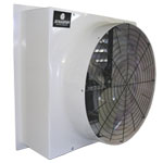 "Schaefer FFM483G1-3V 48"" Fiberglass Belt Drive Exhaust Fan, 3-Wing Galvanized Blade, 1 Hp, 3-Phase, VFD Compatible 1 PK"