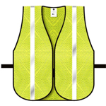 "Dicke V12 General Purpose Safety Vest, Mesh Lime 1"" White Hi Gloss"