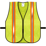 "Dicke V10 General Purpose Safety Vest, Mesh Lime 2"" Orange/Silver S"