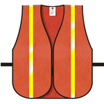 "Dicke V20 General Purpose Safety Vest, Mesh Orange 3/4"" Lime Hi Glo"