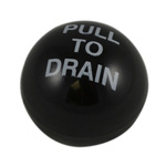 "South Park DV72-1 KNOB ONLY, BLACK PLASTIC ""PULL TO DRAIN"" Drain Valve"