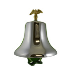 South Park FB1210-GE Fire Truck Bell with Gold Eagle and Chrome Hardware