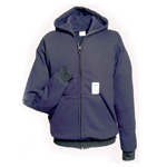 Chicago Protective 615-USFN Navy Ultra Soft Zip Front Hooded Sweatsh