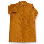 "Chicago Protective 602-CL 45"" Domestic Rust Split Leather Jacket"