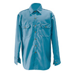 Chicago Protective 625-FR9B-MB Medium Blue Vinex® FR Work Shirt
