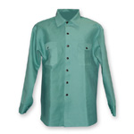 Chicago Protective 625-GR-7 Green FR Cotton Work Shirt-Lighter Weigh