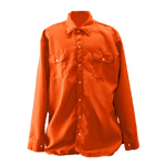Chicago Protective 625-NMX-4.5-O Orange Nomex® IIIA FR Work Shirt