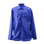 Chicago Protective 625-NMX-6-RB Royal Blue Nomex® IIIA FR Work Shirt