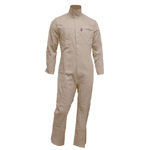 Chicago Protective 605-FRC-K Khaki FR Cotton Coverall