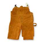 Chicago Protective 618-CL Domestic Split Leather Bib Overall
