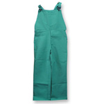 Chicago Protective 618-GW Green FR Cotton Bib Overall - Heavier Weig