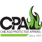 "Chicago Protective 542-GR 42"" Green FR Cotton Bib Apron"
