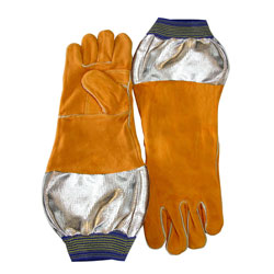 "Chicago Protective 125-WS-589-ARH 18"" Combo Welding Glove with Alumi"