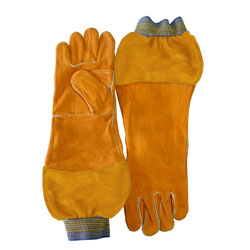 "Chicago Protective 125-WS-589-CL 18"" Combo Glove with Split Leather"