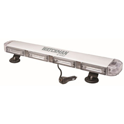 Wolo 7824MP-A Lightbar Watchman Clear Lens Amber Linear LED's 12-Vol