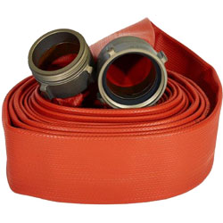 "ATI 50H3RR100N Jafrib Fire Hose, 3"" Dia, 100 ft, Red 1 PK"
