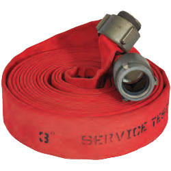 "ATI 51H15LNR100N Jafline Fire Hose, 1-1/2"" Dia, 100 ft, Red 1 PK"